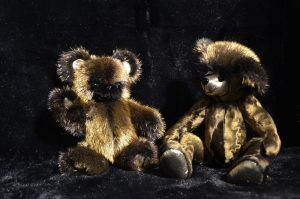 24kt gold plated mink fur teddy bear limited edition by NOBLINE of Switzerland