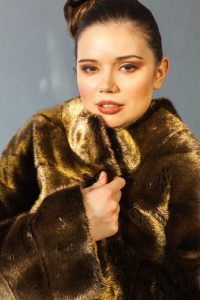 24 carat gold mink fur coat by Nobline of Switzerland