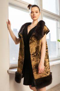 24 kt gold Swakara coat with Bargussin sable applikation