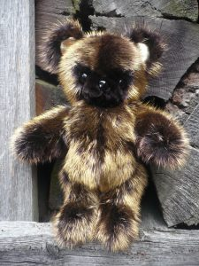 24kt gold plated mink fur teddy limited edition