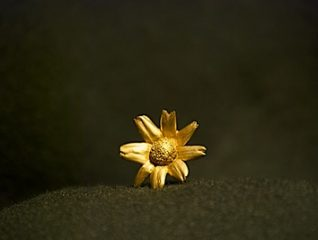 24 kt gold plated daisy