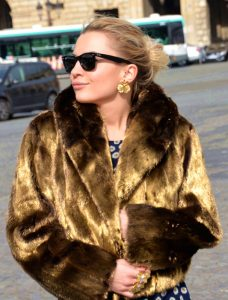 24 carat gold plated mink jacket by NOBLINE