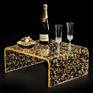 NOBLINE Gold and Acrylic glass table
