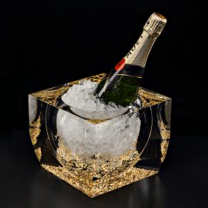 NOBLINE Gold and Acrylic Glass Champagne Cooler